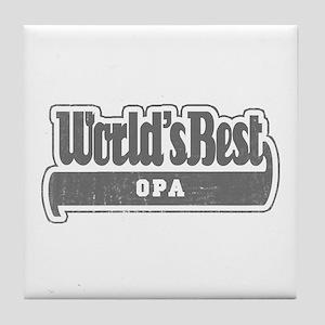 WB Grandpa [Dutch] Tile Coaster